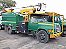 Lift-All LAOC51-1S, Over-Center Bucket Truck, mounted behind cab on, 1998 Ford F800 Chipper Dump Truck