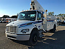 Lift-All LATFB-50-1E, Telescopic Bucket Truck, mounted behind cab on, 2004 Freightliner M2 106 Utility Truck