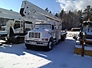 Lift-All LM70-2MS, Material Handling Bucket Truck, rear mounted on, 2001 International 4900 Flatbed/Utility Truck