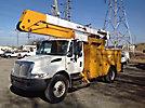 Lift-All LOM-46-1S, Material Handling Bucket Truck, rear mounted on, 2002 International 4300 Utility Truck