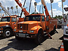 Lift-All LOM-50-1S, Material Handling Bucket Truck, rear mounted on, 1993 International 4900 Utility Truck