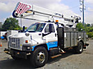 Lift-All LOM-50-1S, Material Handling Bucket Truck, rear mounted on, 2005 GMC C7500 Utility Truck