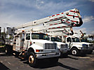 Lift-All LOM42-1S, Material Handling Bucket Truck, rear mounted on, 1996 International 4800 4x4 Flatbed/Utility Truck