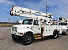 Lift-All LOM42-1S, Material Handling Bucket Truck, rear mounted on, 2001 International 4900 Utility Truck
