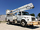 Lift-All LOM50-2MS, Material Handling Bucket Truck rear mounted on 2002 Freightliner FL80 Utility Truck