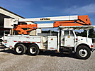 Lift-All LOM55-2S, Material Handling Bucket Truck rear mounted on 1999 International 4900 Utility Truck