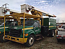 Lift-All LSS-60-1S, Over-Center Bucket Truck mounted behind cab on 2005 Ford F750 Chipper Dump Truck