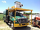 Lift-All LSS-60-1S, Over-Center Bucket Truck mounted behind cab on 2006 Ford F750 Chipper Dump Truck