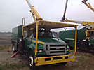 Lift-All LSS-60-1S, Over-Center Bucket Truck mounted behind cab on 2008 Ford F750 Chipper Dump Truck