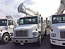 Lift-All LTAF41-1E, Articulating & Telescopic Bucket Truck, mounted behind cab on, 2000 Freightliner FL70 Utility Truck