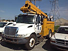 Lift-All LTAFM-41-1S, Articulating & Telescopic Material Handling Bucket Truck mounted behind cab on 2003 International 4700 Utility Truck