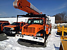 MTI V5A55IP-2TFE2, Bucket Truck, rear mounted on, 2001 International 4700 Utility Truck