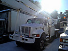 MTI/Teco V7A75IP-4TFE2, Bucket Truck, rear mounted on, 2001 International 4800 4x4 Flatbed/Utility Truck