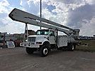 MTI/Teco V7A75IP-4TFE2, Bucket Truck rear mounted on 2001 International 4800 4x4 Flatbed/Utility Truck