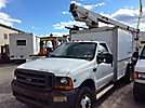 MTI/Telsta A28D, Telescopic Non-Insulated Bucket Truck mounted behind cab on 2001 Ford F450 Enclosed Fiber Optic Splicing Truck