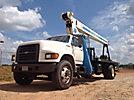Manitex 1261, Hydraulic Crane mounted behind cab on 1996 Ford F800 Flatbed Truck