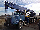 Manitex 38124S, Hydraulic Truck Crane rear mounted on 2000 Kenworth T800 T/A Flatbed Truck