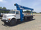 Manitex M1768, Hydraulic Crane, mounted behind cab on 2001 International 4700 Flatbed Truck,