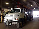 Manitowoc 38124 28-TON, Hydraulic Crane, mounted behind cab on, 2002 Sterling LT7500 Flatbed Truck