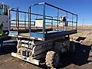 Marklift MT25G, 25' Rough Terrain Self-Propelled Scissor Lift, s/n 48714357, gas, hydrostatic, with 25' working height (Reads 1617 Hours)