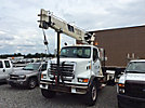 National, Hydraulic Crane, mounted behind cab on, 2002 Sterling L7500 Truck Tractor