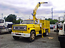 National, Knuckleboom Crane, mounted behind cab on, 1978 GMC 6000 Stake Truck