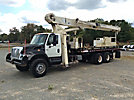 National 1100, Hydraulic Truck Crane mounted behind cab on 2002 International 7400 T/A Flatbed Truck