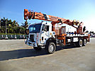 National 1300, Hydraulic Crane, rear mounted on, 2000 Peterbilt 357 6x6 Flatbed Truck