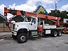 National 13105, Hydraulic Crane rear mounted on 2002 International 5600i 6x6 Flatbed Truck