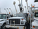 National 337B, Hydraulic Crane mounted behind cab on 2002 Chevrolet C7500 Utility Truck