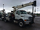 National 437B, Hydraulic Crane mounted behind cab on 2006 Sterling Acterra S/A Truck Tractor