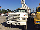 National 446, Hydraulic Crane mounted behind cab on 1988 Ford F800 Flatbed Truck