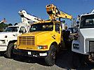 National 446A, Hydraulic Crane mounted behind cab on 1991 International 4900 Flatbed Truck