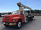 National 560C, Hydraulic Crane mounted behind cab on 1995 Ford F800 Flatbed Truck