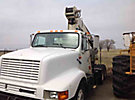 National 600C, Hydraulic Crane, mounted behind cab on, 1998 International 2674 T/A Truck Tractor