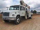 National 600C, Series 638C, Hydraulic Crane, mounted behind cab on, 2001 Freightliner FL70 Extended-Cab Flatbed/Service Truck