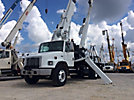 National 600D, Hydraulic Crane mounted behind cab on 2002 Freightliner FL80 T/A Flatbed Truck