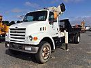 National N105, Knuckleboom Crane mounted behind cab on 2004 Sterling L7500 Dump Flatbed Truck