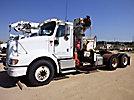 National N105, Knuckleboom Crane mounted behind cab on 2005 International 9200I Truck Tractor