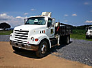 National N65, Hydraulic Knuckle Boom Crane, mounted behind cab on, 1999 Sterling L7501 Flatbed Truck