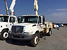 National N65A, Knuckleboom Crane, mounted behind cab on 2006 International 4300 URD/Flatbed Truck,