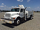 National N80, Knuckleboom Crane, mounted behind cab on 2000 International 4900 URD/Flatbed Truck,
