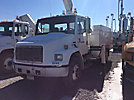 National N80A, Knuckleboom Crane, mounted behind cab on, 2000 Freightliner FL70 URD/Flatbed Truck