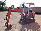 Omni Quip 218SV Mini Hydraulic Excavator, s/n 4010489, diesel, hydraulic drive, backfill blade & ROPS (Reads 2239 Hours)