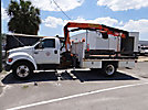 Palfinger PK1000, Hydraulic Knuckle Boom Crane, mounted behind cab on, 2004 Ford F650 Flatbed Truck