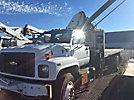 Palfinger PK12000, Knuckleboom Crane mounted behind cab on 2001 Chevrolet C7500 Flatbed Truck