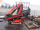 Palfinger PK17502, 13,450# Hydraulic Knuckle Boom Crane, s/n _____________, with 34' working height, 4 section hyd boom, aluminium headboard, grapple attachment (unmounted, boom damaged)