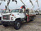 Palfinger PK9001, Hydraulic Knuckle Boom Crane, mounted behind cab on, 2000 GMC C7500 Flatbed Truck