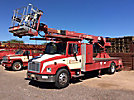 Phoenix 60, Telescopic Non-Insulated Platform Lift rear mounted on 2000 Freightliner FL70 Flatbed/Utility Truck