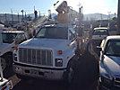 Pitman HL858, Hydraulic Crane mounted behind cab on 1991 GMC Topkick Flatbed Truck